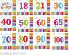 Pk of 16 Radiant Birthday 3 Ply Party Luncheon Napkins (33cm x 33cm) - All Ages