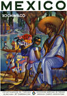 T61 Vintage Mexico Mexican Xochimilco Travel Poster Re-Print A4