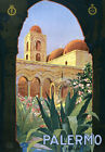 T9 Vintage 1920's Italy Palermo Sicily Italian Travel Poster Re-Print A4