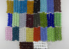 1 Strand Frosted Matte Flat Square Nugget Beach Sea Glass Beads U Pick The Color