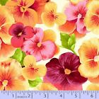 Perfect Pansy by Faye Burgos Quilt Fabric By The Yard