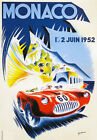 AV40 Vintage 1952 Monaco Grand Prix Motor Racing Poster Re-Print A4
