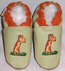 Moxiesbabyshoes GIRAFFE soft soled leather baby shoes all sizes 0-6 to 6-7yrs