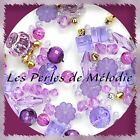 "Lot Mix de + 100 à + 500 PERLES FANTAISIE tons ""VIOLET"""