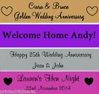 Personalised Birthday Engagement Anniversary Party Banners FAST Despatch!