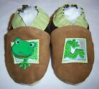 Moxiesbabyshoes FROG soft soled leather boys baby shoes infant 0-6 to 6-7 yrs