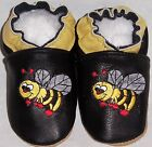 Moxiesbabyshoes BLACK BEE soft soled leather baby shoes all sizes 0-6 to 6-7yrs