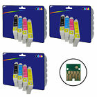 12 Inks - non-original Printer Ink Cartridges for Epson E0711-E0714 Range
