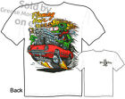 Corvette Rat Fink T shirt Big Daddy Flaming Hair Ed Roth Tee, Sz M L XL 2XL 3XL