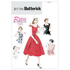 Butterick 5708  Retro '53 Dress w/Flared Skirt & Neck Variations Sewing Pattern