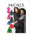 McCall's 6614 Sewing Pattern to MAKE Unisex Stretch Top &  Hoodies Jacket