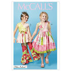 McCall's 6497 Sewing Pattern to MAKE Patchwork Style Girls' Top Dress & Trousers