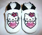 HELLO KITTY soft soled leather baby shoes 0-6 mths to 6-7 yrs