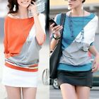 Celeb Style Casual Cotton Batwing Sleeve Blouse Top Tee T-Shirt  SZ S-XL T047