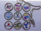 Cheerleading bottle cap necklace great party favors
