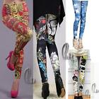 AU SELLER Sexy Artsy Print Leggings Slim Dress pants SZ XS-L/AU6-12 p067