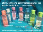 7/8x 25ml mini-Johnson's Baby Cologne Gentle Perfume Scents men lady kids +125ml