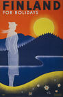 TX22 Vintage 1930's Finland For Holidays Finnish Travel Poster Re-Print A1/A2/A3