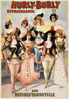 B46 Vintage Hurly Burlesque Theatre Poster A1 A2 A3