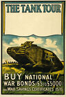 WA18 Vintage WWI National War Bonds Tank Tour Scottish War Poster WW1 A1 A2 A3