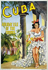 TU15 Vintage Cuba Holiday Isle Of The Tropics Travel Poster Re-print  A1/A2/A3