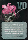 WB22 Vintage WW2 Easy Girlfriend Spreads VD Syphilis Gonorrhoea War Poster A4