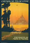 TX04 Vintage 1930's France Mont St.Michel French Railways Travel Poster A4