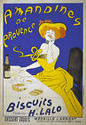 AV52 Vintage French Amandines de Provence Biscuits Advertisement Poster Print A4