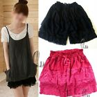 Layered Lace Mini Skirt Safety Shorts Pants SZ XS-M/AU6-10 dr002