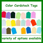 100 Tags Color Cardstock Blank Colored Gift Price Craft Sale Consignment Shop