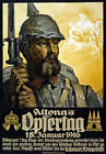 WA36 Vintage WWI German Altona's Opfertag War Fund Raising Poster WW1 A4