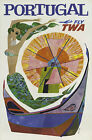 TX126 Vintage Portugal TWA Airlines Travel Tourism Poster Re-Print A4
