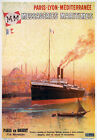 TX155 Vintage Messageries Maritimes French Cruise Liner Travel Poster A2/A3