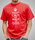 Keep Calm And Walk The Dog - T-shirt, Doggie, Doggy Tee Shirt, Tshirt (D335)