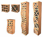 Modular Stackable Redwood Wine Cubes Storage Rack - NEW