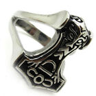 316L Stainless Steel Medieval skull king's face totem nation faith men's ring