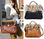 HOT Sale Women Faux Fur Messenger Satchel Shoulder Purse Handbag Tote Bag