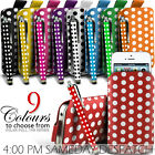 LEATHER POLKA  PULL TAB CASE + STYLUS FOR VARIOUS NOKIA MOBILE PHONES