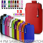 LEATHER PULL TAB SKIN CASE COVER POUCH+MINI STYLUS FOR VARIOUS MOTOROLA MOBILE