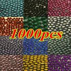 1000 pc Nail Art Tip  Flat Back Acrylic Glitter Rhinestones Diamante Gems UK  MX