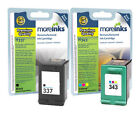 2 Remanufactured HP 337 / 343 Ink Cartridges for Photosmart 2570 Printer & more