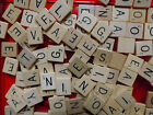 Scrabble Tiles Letters Vintage Individual Replacements pieces crafts wooden used