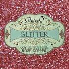 GlateeQ 20g Rose Copper Ultra Fine Glitter .008 - Craft, Nail Art or Floristry