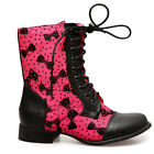 Iron Fist Bowed Over Combat Boot Pink/Black * Special Offer*