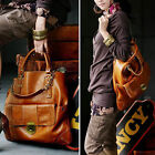 New Korean Hobo Faux Leather Handbag Cross Body Shoulder Bag Totes Brown