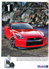 2009 Nissan Skyline GTR Mobil Oil -  Classic Vintage Advertisement Ad H71