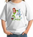 Mermaid Big Number Girl Birthday T-shirt with sea life starfish seahorse