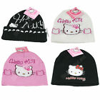Girls Hello Kitty Knitted Beanie Hat Warm Winter Kids Ski Hat Pink Surino Cap