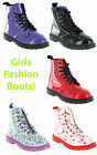 New Girls Mercury Spice 7eye Dress Casual Patent Floral Dress Boots Size 10-3 UK