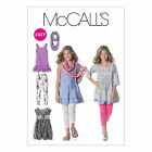McCall's 6275 Sewing Pattern to MAKE Dress Leggings Scarf Age 7-14 or Plus Girls
